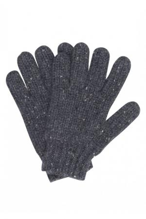 Кашемировые перчатки серые Bonpoint. Цвет: серый