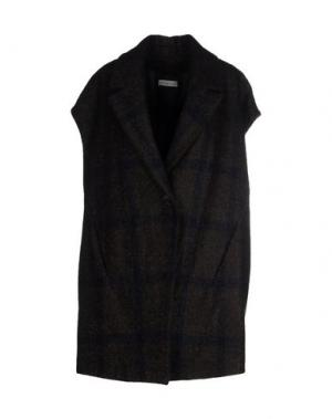 Легкое пальто ANTONELLI. Цвет: темно-коричневый