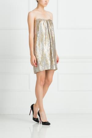 Платье из полиэстера Jay Ahr. Цвет: золотистый, платиновый