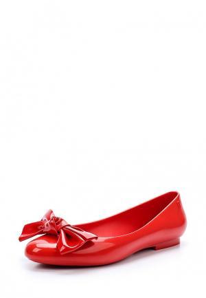 Балетки Melissa. Цвет: красный