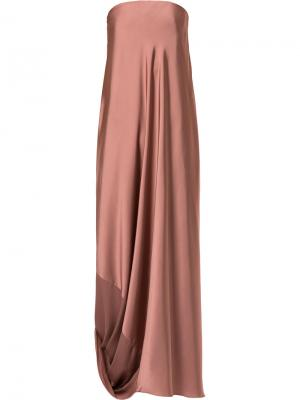 Каскадное вечернее платье Bianca Spender. Цвет: розовый и фиолетовый