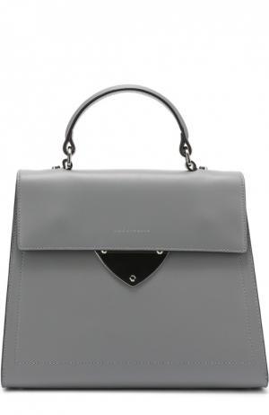 Кожаная сумка B14 Coccinelle. Цвет: серый