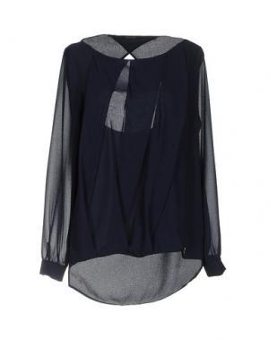 Блузка TRY ME. Цвет: темно-синий
