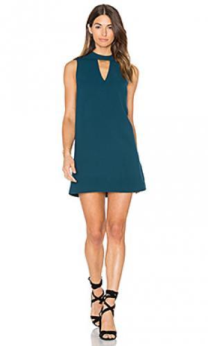 Цельнокроеное мини платье с овальным вырезом dawnson Greylin. Цвет: сине-зеленый