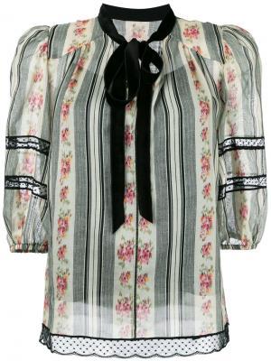 Блузка с цветочным узором Marc Jacobs. Цвет: многоцветный