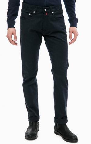Зауженные синие брюки Pierre Cardin. Цвет: синий