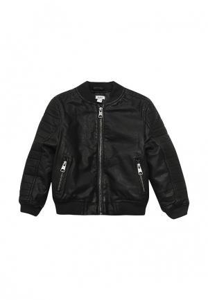 Куртка кожаная Blukids. Цвет: черный