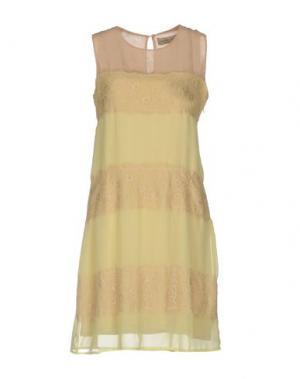 Короткое платье JUST FOR YOU. Цвет: светло-желтый