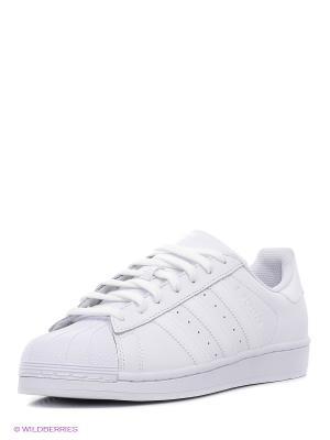 Кроссовки SUPERSTAR FOUNDATIO Adidas. Цвет: белый