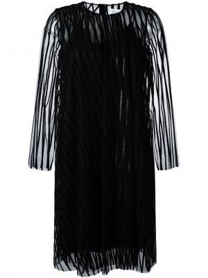 Жаккардовое платье с блестящей отделкой Gianluca Capannolo. Цвет: чёрный