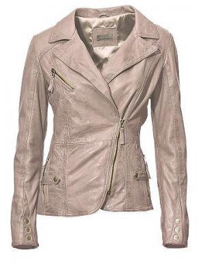 Кожаная куртка, из мягкой овечьей кожи наппа MANDARIN. Цвет: розовый