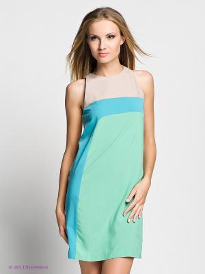 Платье Verezo. Цвет: зеленый, голубой, бежевый