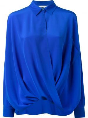 Драпированная рубашка Moschino. Цвет: синий