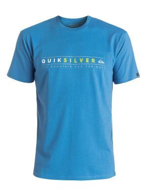 Футболка Quiksilver. Цвет: голубой