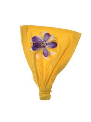 Бандана Jane Flo. Цвет: желтый