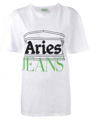 Printed T-shirt Aries. Цвет: белый