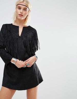 Raga Платье-рубашка Rule Breaker. Цвет: черный