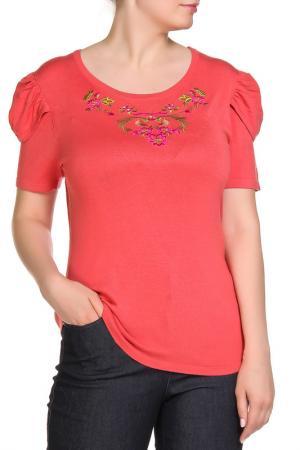 Блуза LOLA PALTINGER. Цвет: коралловый