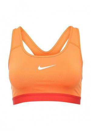 Топ спортивный Nike. Цвет: оранжевый