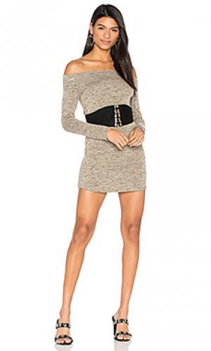 Платье со спущенными плечами jimmy Riller & Fount. Цвет: беж