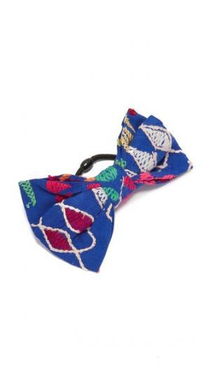 Бантик для волос Jaipur All Things Mochi. Цвет: синий мульти