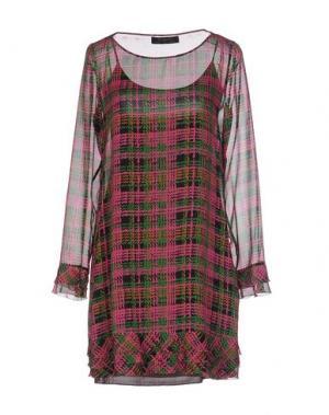 Короткое платье KRISTINA TI. Цвет: фуксия