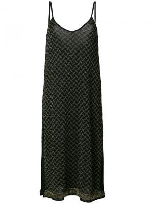 Платье с узором Lala Berlin. Цвет: чёрный