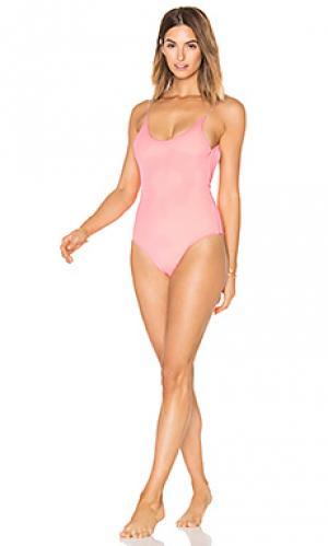 Слитный купальник barbie lolli swim. Цвет: розовый