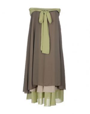 Платье до колена MICHAEL DASS. Цвет: зеленый-милитари