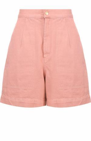 Джинсовые мини-шорты с завышенной талией Isabel Marant. Цвет: розовый