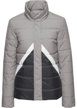Куртка (черный/серый) bonprix. Цвет: черный/серый