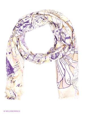 Платок Eleganzza. Цвет: кремовый, фиолетовый