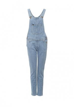 Комбинезон джинсовый Lee. Цвет: голубой