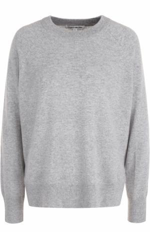 Кашемировый пуловер свободного кроя с круглым вырезом Elizabeth and James. Цвет: светло-серый