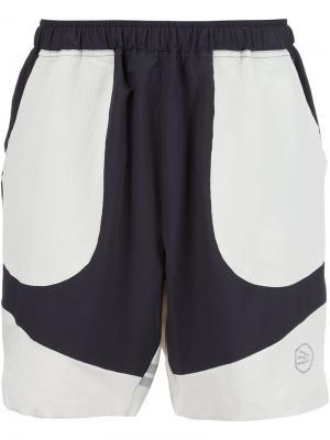 Спортивные шорты в стиле колор-блок Brandblack. Цвет: чёрный