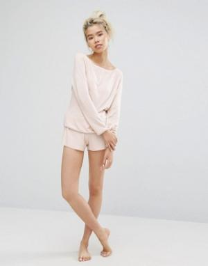 Lazy Days Пижамные шорты. Цвет: бежевый