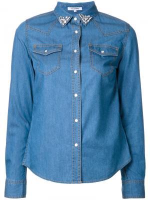 Джинсовая рубашка с декорированным воротником Guild Prime. Цвет: синий