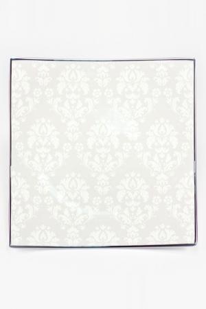 Блюдо квадратное 31,5 см Royal Porcelain. Цвет: белый, серый