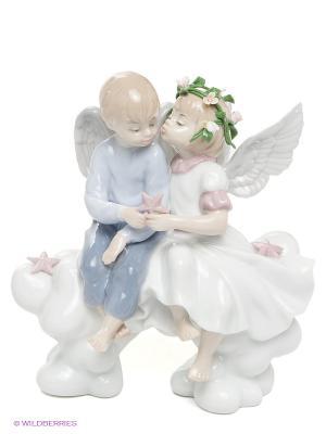 Фигурка Два Ангелочка Pavone. Цвет: белый, голубой, розовый