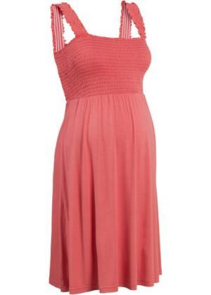 Мода для беременных: трикотажное платье (коралловый) bonprix. Цвет: коралловый