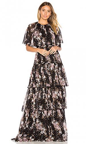 Вечернее платье prairie rose Needle & Thread. Цвет: черный