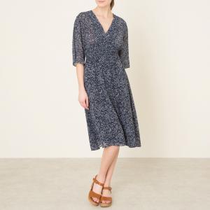 Платье ISRA BA&SH. Цвет: синий