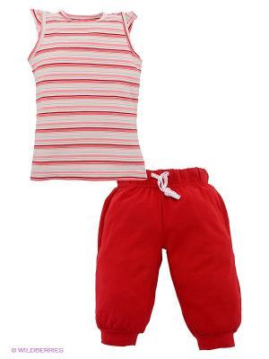 Комплект PlayToday. Цвет: красный, розовый, персиковый, зеленый