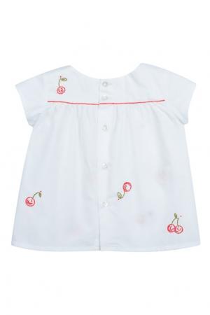 Белая блузка ARLI Bonpoint. Цвет: белый