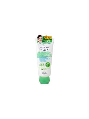 Пенка-антиакне для умывания, с лечебным эффектом Kose Cosmeport SOFTYMO Mineral Wash 130г. Цвет: зеленый