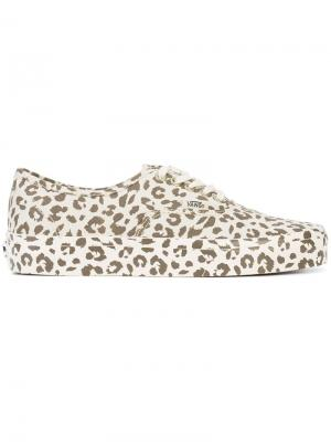 Leopard print sneakers Vans. Цвет: телесный