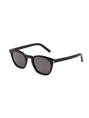 Солнцезащитные очки Saint Laurent. Цвет: серый, черный