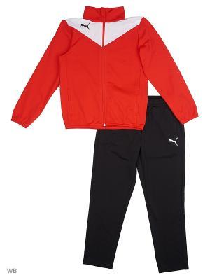 Костюм спортивный  Essentials Pro PolyTracksuit Puma. Цвет: красный