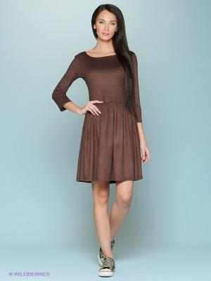 Платье &Berries. Цвет: коричневый