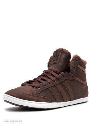 Кеды PLIMCANA MID FUR Adidas. Цвет: коричневый